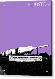 Houston Johnson Space Center - Violet Acrylic Print by DB Artist