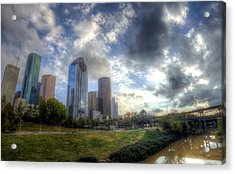 Houston Acrylic Print by Micah Goff