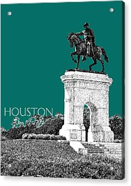 Houston Sam Houston Monument - Sea Green Acrylic Print by DB Artist
