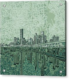 Houston Skyline Abstract 2 Acrylic Print
