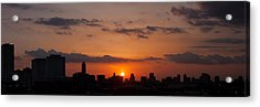 Houston Skyline At Sunset Acrylic Print