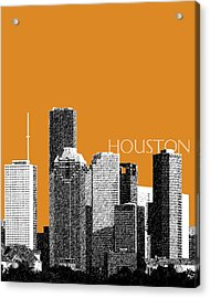 Houston Skyline - Dark Orange Acrylic Print