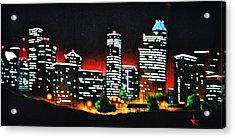 Houston Skyline Acrylic Print by Thomas Kolendra