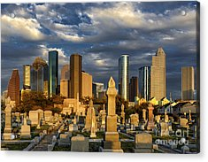 Houston Sunset Skyline Acrylic Print