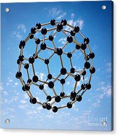 Hovering Molecule Acrylic Print by Carlos Caetano