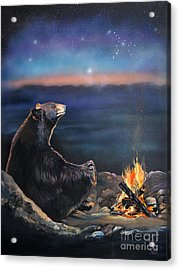How Grandfather Bear Created The Stars Acrylic Print by J W Baker