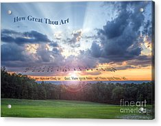 How Great Thou Art Sunset Acrylic Print by D Wallace