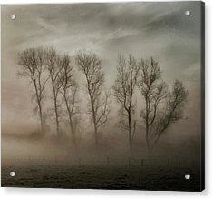How Nature Hides The Wrinkles Of Her Antiquity Under Morning Fog And Dew Acrylic Print