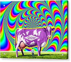Acrylic Print featuring the digital art How Now Dow Cow? by Scott Ross