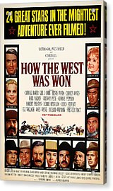 How The West Was Won Movie Poster 1962 Acrylic Print by Mountain Dreams