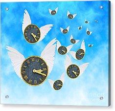 How Time Flies Acrylic Print by Juli Scalzi