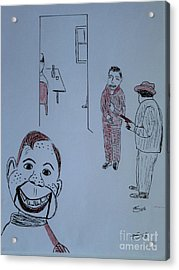 Acrylic Print featuring the drawing Howdy Lee And Me by Bill OConnor