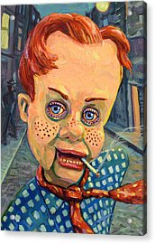 Howdy Von Doody Acrylic Print by James W Johnson