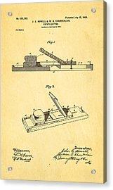Howell And Chamberlain French-fry Potato Cutter Patent Art 1900 Acrylic Print