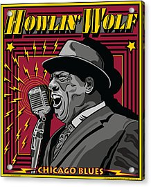 Howlin' Wolf Chicago Blues Legend Acrylic Print by Larry Butterworth
