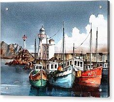 Howth Trawlers Acrylic Print