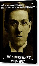 Hp Lovecraft Acrylic Print