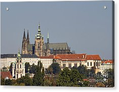 Hradcany - Cathedral Of St Vitus On The Prague Castle Acrylic Print by Michal Boubin