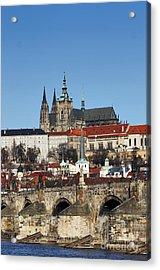 Hradcany - Prague Castle Acrylic Print by Michal Boubin