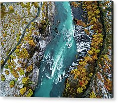 Hraunfossar, Waterfall, Iceland Acrylic Print by Arctic-images