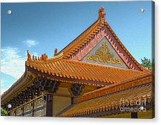 Hsi Lai Temple - 01 Acrylic Print by Gregory Dyer