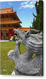 Hsi Lai Temple - 03 Acrylic Print by Gregory Dyer
