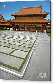 Hsi Lai Temple - 04 Acrylic Print by Gregory Dyer