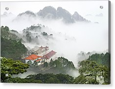 Huangshan National Park Acrylic Print by King Wu