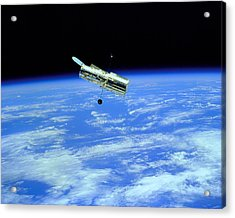 Hubble Space Telescope Acrylic Print by Ram Vasudev