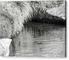 Huck Finn And The Water Cave Acrylic Print by Lenore Senior