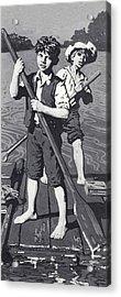 Huckleberry Finn And Tom Sawyer  Acrylic Print by English School