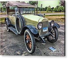 Acrylic Print featuring the photograph hudson 1921 phaeton car HDR by Paul Fearn