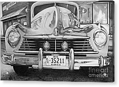 Hudson Dreams In Black And White Acrylic Print
