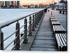 Hudson River Park Acrylic Print by JC Findley