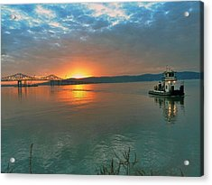 Hudson River Sunset Acrylic Print