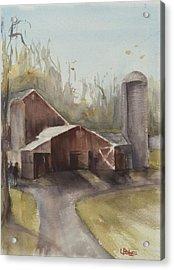 Hudson Valley Farm Acrylic Print by Lynne Bolwell