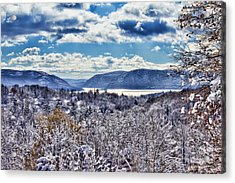 Hudson Valley First Snow Mystic Colors Acrylic Print