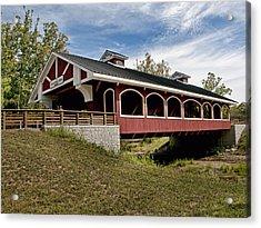Hueston Woods Covered Bridge Acrylic Print