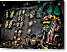 Huey Instrument Panel Acrylic Print by David Morefield