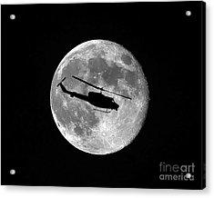 Huey Moon Acrylic Print