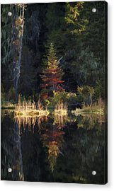 Huff Lake Reflection Acrylic Print