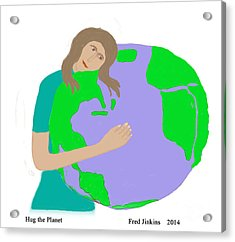 Hug The Planet Acrylic Print