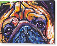 Hug The Pug Acrylic Print