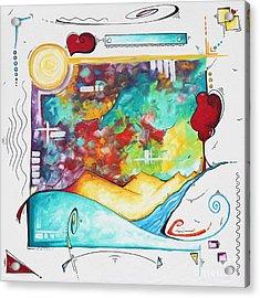 Huge Original Pop Art Style Painting Unique Fun Colorful Art By Megan Duncanson Acrylic Print