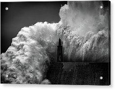 Hugging The Lighthouse Acrylic Print
