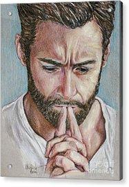Hugh Jackman Acrylic Print