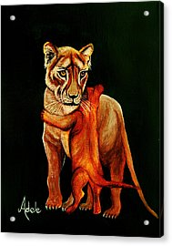 Hugs Acrylic Print by Adele Moscaritolo
