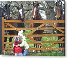 Acrylic Print featuring the photograph Hugs And Kisses by Suzanne Oesterling