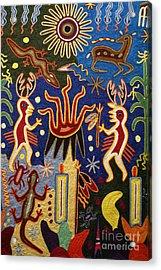 Huichol Yarn Painting Mexico Acrylic Print