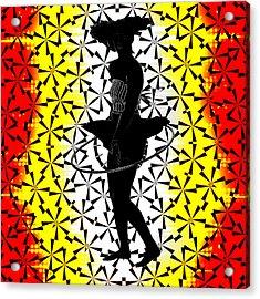 Hula Hoop Kaleidoscope Acrylic Print by Amber Summerow